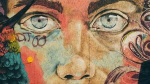 Artwork Painting Graffiti Street Art Eyes Blue Eyes 5908x3939 Wallpaper