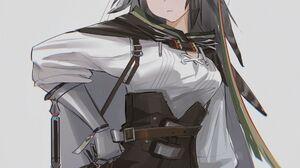 Anime Anime Girls Digital Art Artwork 2D Portrait Display Vertical KrHrYUi Arknights Armor Sword Cap 2480x3508 Wallpaper