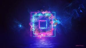 Blue Light Nebula Neon 1920x1080 wallpaper