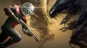 Alien Gun Prey Video Game Sci Fi Space 4177x2350 Wallpaper