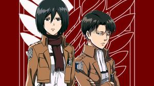 Mikasa Ackerman Levi Ackerman Digital Art Artwork Shingeki No Kyojin 1080x1920 Wallpaper