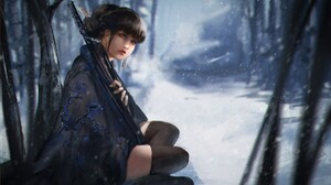 Girl Winter 1920x1100 Wallpaper