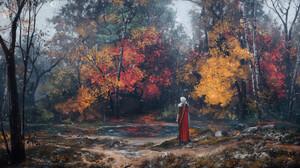 Max Suleimanov Digital Art Landscape River Lake Fall Trees 1920x1080 wallpaper