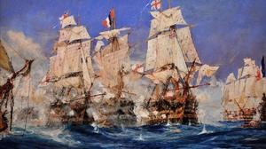 Royal Navy Battle Of Trafalgar Warship Rigging Ship Vehicle Artwork Ship Military 1716x1108 Wallpaper