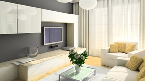Cushion Flower Lounge Television 1920x1200 Wallpaper