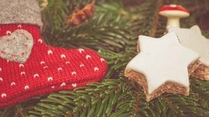 Christmas Cookie Star 4672x3048 Wallpaper
