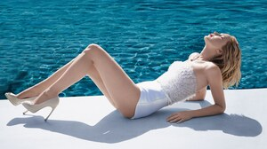 Actress American Blonde Jennifer Lawrence White Dress 3000x2086 Wallpaper
