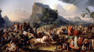 Games In Honor Of Patroclus During His Funeral Carle Vernet Patroclus Achilles Greek Mythology Class 2500x1286 Wallpaper