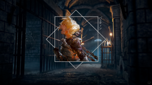 Armor Arrow Blonde Chain Girl Knight Medieval Prison 2560x1440 Wallpaper