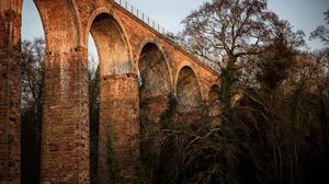 Leaderfoot Viaduct Scotland 4000x2670 Wallpaper