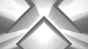 3D Abstract Modern Perspective Architecture Render Wall White Lights 4000x3000 Wallpaper