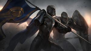 Armor Banner Knight Warrior 1920x1080 Wallpaper