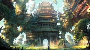 Landscape Anime Fantasy Art Fantasy City Artwork 1920x1124 Wallpaper