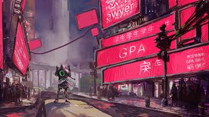 Cyberpunk Futuristic 3840x1918 Wallpaper