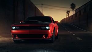 Dodge Challenger Dodge Car Red Car Muscle Car 1920x1080 wallpaper