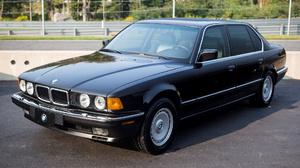 Bmw 735i Luxury Car Sedan Full Size Car Old Car Black Car Car 1920x1080 Wallpaper