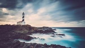 Building Coast Horizon Lighthouse Ocean Sky 5346x3294 Wallpaper