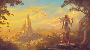 Digital Art Fantasy Art Castle Clouds Fall 1920x960 Wallpaper