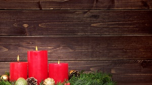 Candle Christmas Ornaments 5616x3744 wallpaper