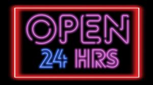 Neon Sign Open Neon Glow Red Purple 3840x2160 Wallpaper