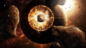 Sci Fi Collision 1366x768 Wallpaper