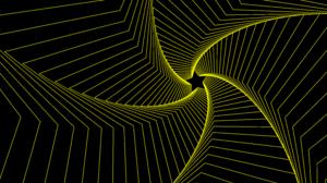 Abstract Digital Art Fractal Gradient Lines Spiral Star 7680x4320 Wallpaper