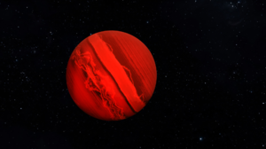 Gas Giant Space Stars Planet Blender 3D Graphics 3D Abstract 2560x1080 Wallpaper