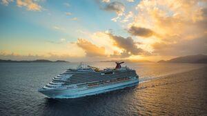 Cruise Ship Sunset 3200x1800 wallpaper