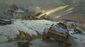 Red Army Stalingrad World War Ii War Military Winter Cold Ice Snow Artwork Military Vehicle Vehicle  1920x1191 Wallpaper