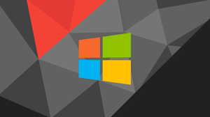 Abstract Low Poly Minimalism Windows Logo Windows 10 Operating System 2560x1440 Wallpaper