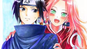 Sakura Haruno Sasuke Uchiha 3512x2466 Wallpaper