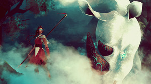 Animal Braid Girl Rhino Spirit Woman Warrior 4500x3000 Wallpaper