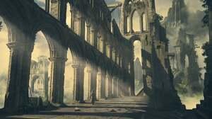 Artwork Digital Art Ruins Building 1920x924 wallpaper