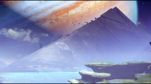 Destiny 2 Video Game Pyramid 2560x1080 Wallpaper
