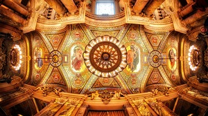 Ceiling Chandelier Interior Painting Palais Garnier Paris 7673x4879 Wallpaper
