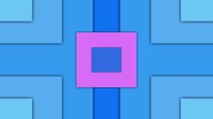 Artistic Blue Geometry Pink Square 4128x3096 wallpaper
