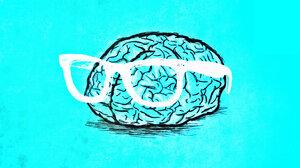 Blue Brain Nerd Weird 2560x1440 Wallpaper