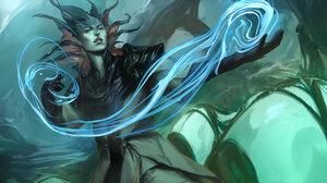 Magic Sorceress Woman 2857x2099 Wallpaper