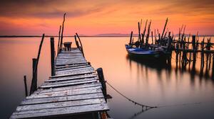 Bruno Soares Landscape Sunset Horizon Sky Colorful Pier Wooden Surface Water Boat Dock 2048x1365 Wallpaper