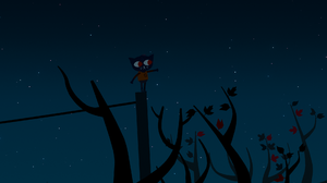 Night In The Woods Night Nature Branch Leaves Stars 1920x1080 Wallpaper
