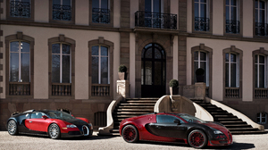 Black Car Bugatti Bugatti Veyron Car Red Car Sport Car Supercar Vehicle 4096x2958 wallpaper