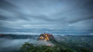 City Hill Mountain Landscape Cloud 2560x1709 Wallpaper
