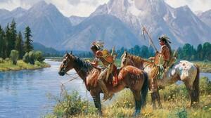 Artistic Native American 1280x1024 Wallpaper