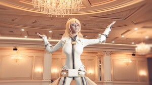 Suits Boots Cosplay Saber Bride Long Hair Blonde Blue Eyes Leather Boots Leather Clothing Ballroom H 3148x4847 wallpaper
