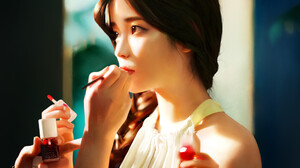 J Won Han Women Artwork Long Hair Drawing Asian Korean Women IU K Pop 1920x1263 Wallpaper
