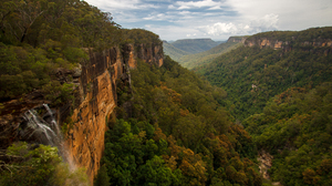 Landscape Australia Nature Rock Waterfall Plants 4752x3168 Wallpaper