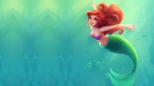 The Little Mermaid Mermaid Ariel The Little Mermaid Blue Eyes Red Hair Smile 2112x1314 Wallpaper