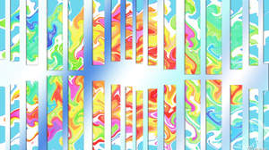 Abstract Artistic Colorful Digital Art Shapes 1920x1080 Wallpaper