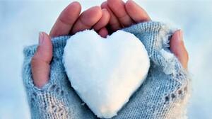 Hand Heart Heart Shaped Snow Winter 2200x1100 Wallpaper