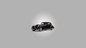 Car Old Car Black Cars Gray Background Conciseness 13094x8567 Wallpaper
